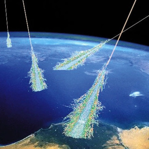 Cosmic Ray Illustration