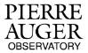 Pierre Auger Observatory - official website